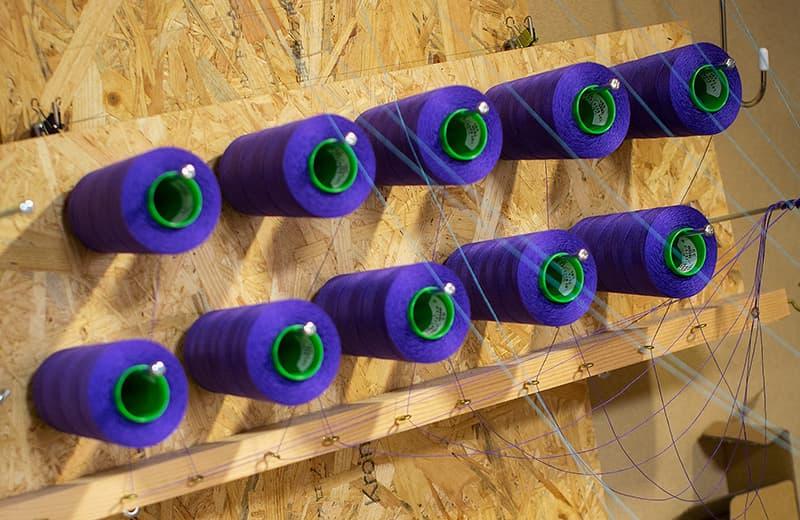 経糸(たて糸)の配色を決める